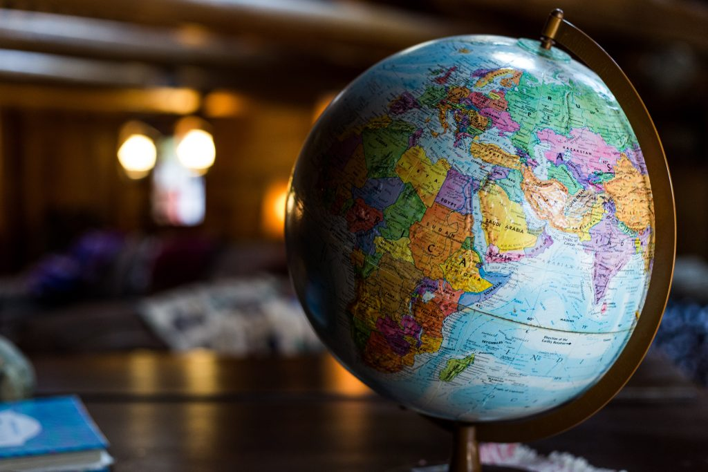 World globe. Geography assignment help services at assignmentessays.com.
